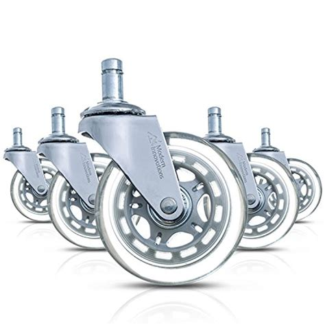modern innovations 3 quot office chair casters set of 5 heavy