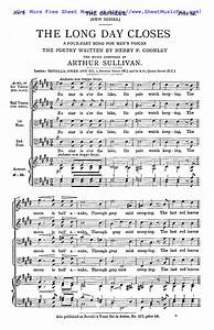 King Arthur Designs Free Sheet Music For The Long Day Closes Sullivan Arthur
