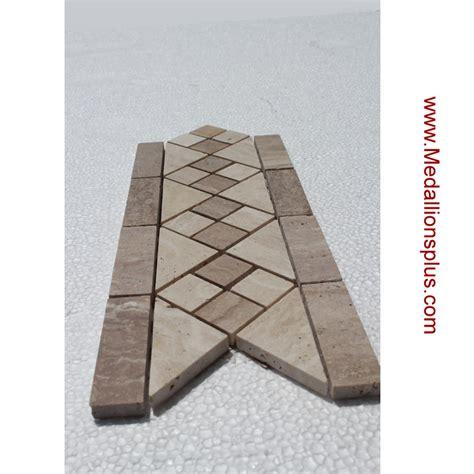 travertine border travertine and marble diamond tile border 5 quot x 12 quot medallionsplus com floor medallions on