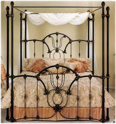 Elliott's Designs Tiffany 403 Wrap Canopy Bed Wrought Rod