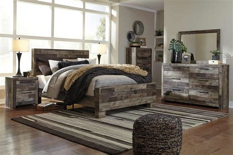 derekson multi gray queen panel bedroom set louisville