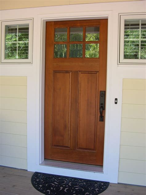 Doors Front Of House by Front Entry Cottage Style Stained Front Door Troxel