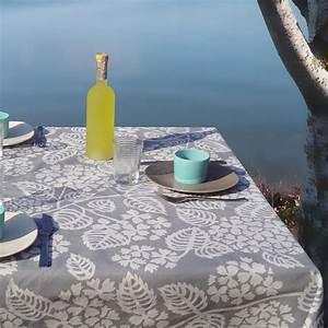 Nappe Ovale Enduite : nappe enduite ronde ou ovale hortensia gris ~ Teatrodelosmanantiales.com Idées de Décoration