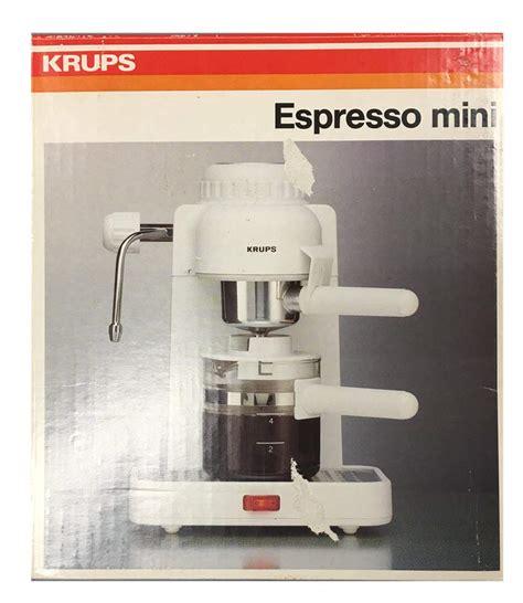 krups espresso mini  white electric cappuccino espresso