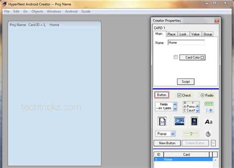 create   android app  hypernext android creator