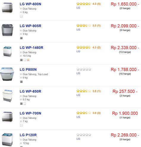 Harga Merk Mesin Cuci daftar harga mesin cuci lg 2 tabung terbaru januari 2018