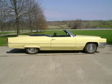 find   cadillac deville yellow convertible
