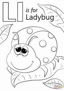 Letter L Is For Ladybug Coloring Page Free Printable