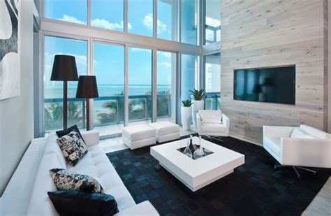 deco salon moderne noir et blanc deco maison moderne