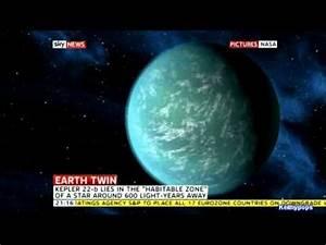 NASA Discover New Earth Like Planet - Kepler-22b - YouTube