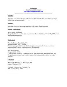 Resume In Interior Design Industry Sales Interior