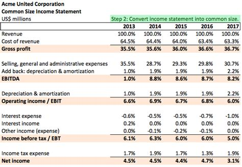 analyze common size income statement microcapco