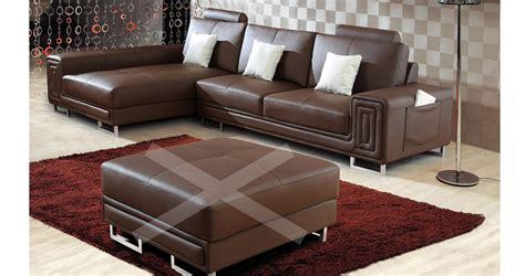 canape cuir marron canape angle cuir marron maison design modanes com