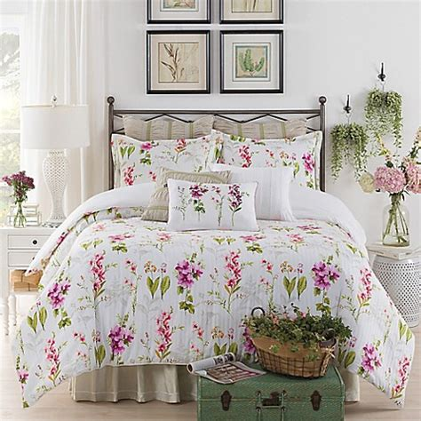 york botanical gardens liana comforter set  white