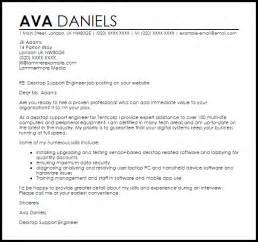desktop support engineer cover letter sle livecareer