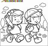 Coloring Pages Illustrations Vector Clip Walk Royalty sketch template