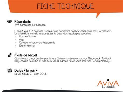 fiche technique de cuisine enquête la cuisine idéale des français par aviva