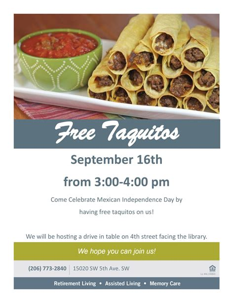 Celebrate Mexican Independence Day with FREE Taquitos at ...