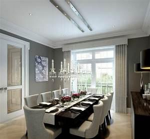 58 idees salle a manger de design contemporain With luminaire salle a manger contemporain