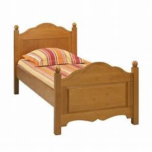 Lit En 90 : lit 90 x 190 pin miel 1 place beaux meubles pas chers ~ Teatrodelosmanantiales.com Idées de Décoration