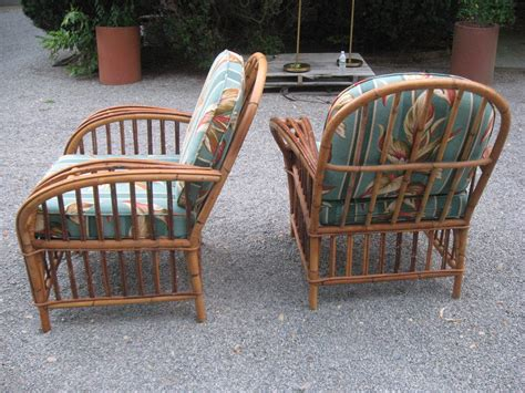 vintage pair of rattan lounge chairs for sale at 1stdibs
