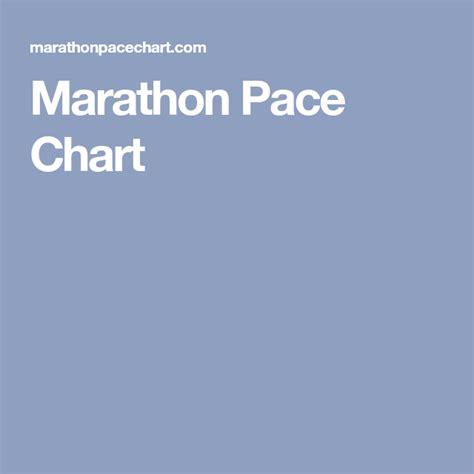 pace chart marathon running run track