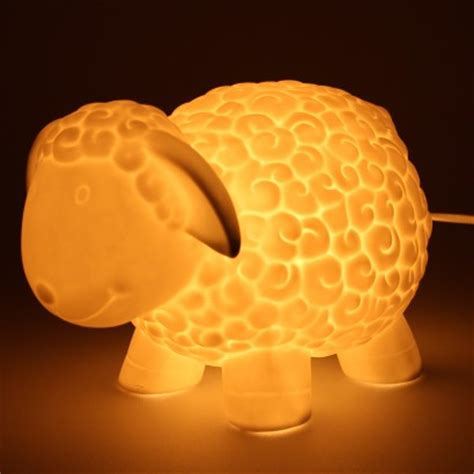 childrens ceramic sheep lamp