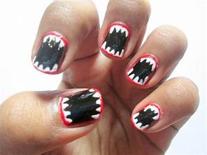 Halloween Inspired Easy Nail Art Tutorial - Makeup And ...