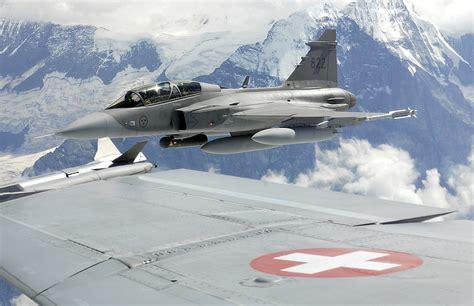 military  jas  gripen flies   alps