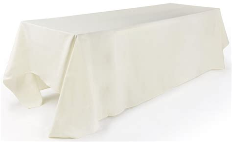 tablecloth for 8 foot table rectangular tablecloth 132 quot ivory linen
