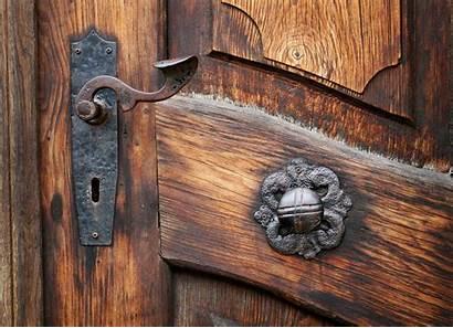 Antique Door Library Tablet Mobile
