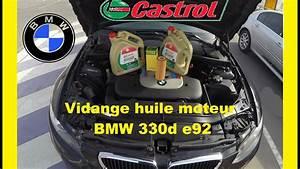 Capacité Huile Moteur : vidange huile moteur bmw 330d e92 youtube ~ Medecine-chirurgie-esthetiques.com Avis de Voitures