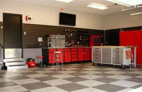 shop flooring ideas man cave garage red black gray color scheme man cave pinterest man cave garage gray