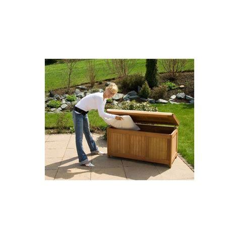 magasins ustensiles cuisine banc coffre de rangement jardin extérieur en bois avec coussin