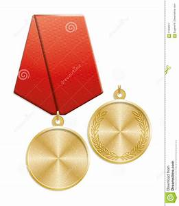 Blank Gold Medal Stock Illustration - Image: 71002617