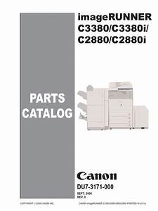 Canon Color Imagerunner C2880  C2880i  C3380  C3380i Parts List
