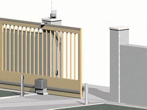 Moteur Portail Electrique : prix moteur portail electrique moteur solaire portail ~ Premium-room.com Idées de Décoration