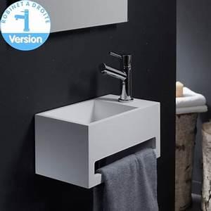 Lave Main Suspendu : lave main gain de place avec porte serviette planetebain ~ Nature-et-papiers.com Idées de Décoration