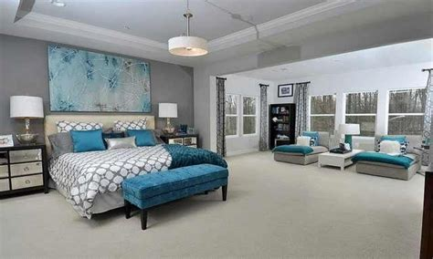 Grey Bedroom Ideas, Teal And Grey Bedroom Idea Purple And
