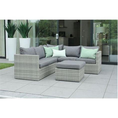 mobilier de jardin en r 233 sine tress 233 e design gris beige