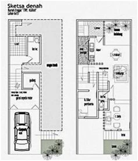 contoh denah desain rumah  lantai type  home