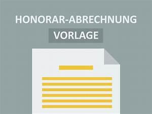 Abrechnung Vorlage : vorlage honorar abrechnung doc convictorius ~ Themetempest.com Abrechnung