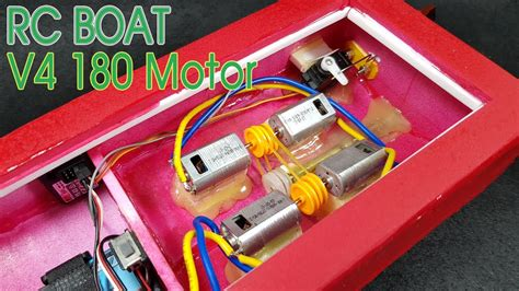 Rc Boats How To Make by How To Make Rc Boat With V4 180 Motor