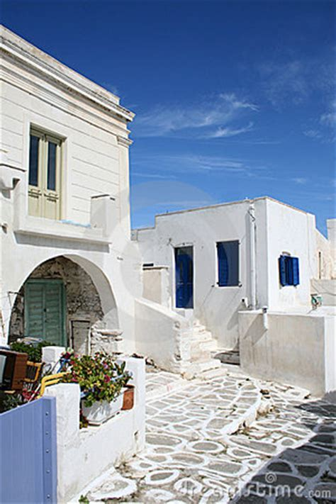 Typical Greek Island Homes   Paros Island, Greece Royalty