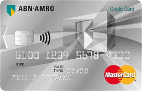 abn amro credit card creditcard  international card services