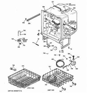Ge Gsd3960l00ss Dishwasher Parts