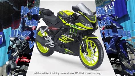 Modif R15 by Modifikasi Striping All New Yamaha R15 V3 0 By Motoblast