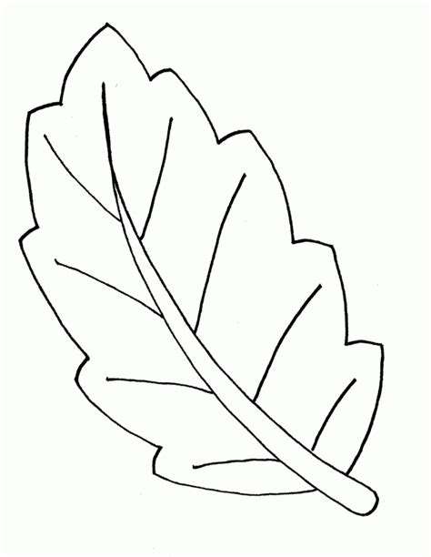 Coloring Leaf by Leaf Coloring Pages For Preschool Coloring Home