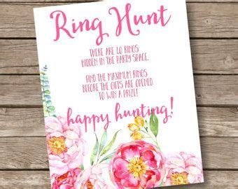 bridal ring hunt sign bachelorette party games peony