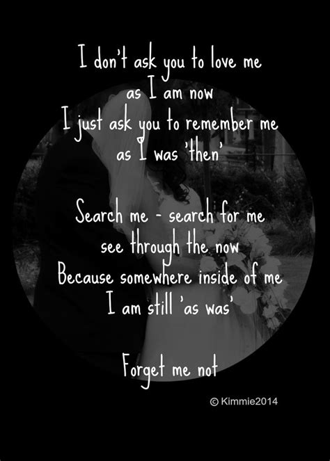 'Forget Me Not' #poem | Caregiver quotes, Alzheimers